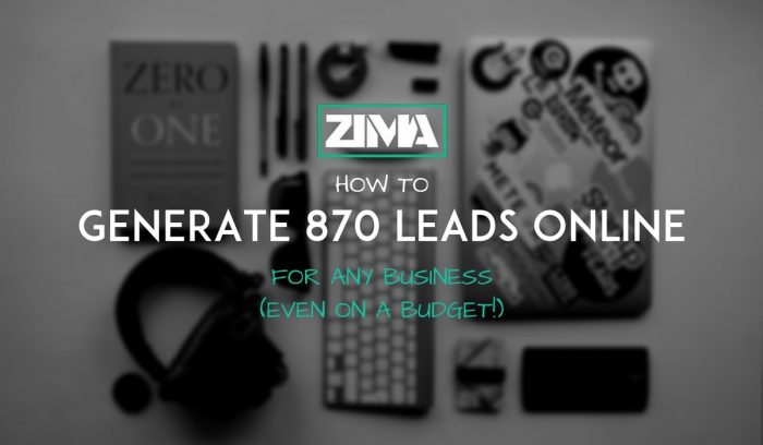 generate 870 leads online