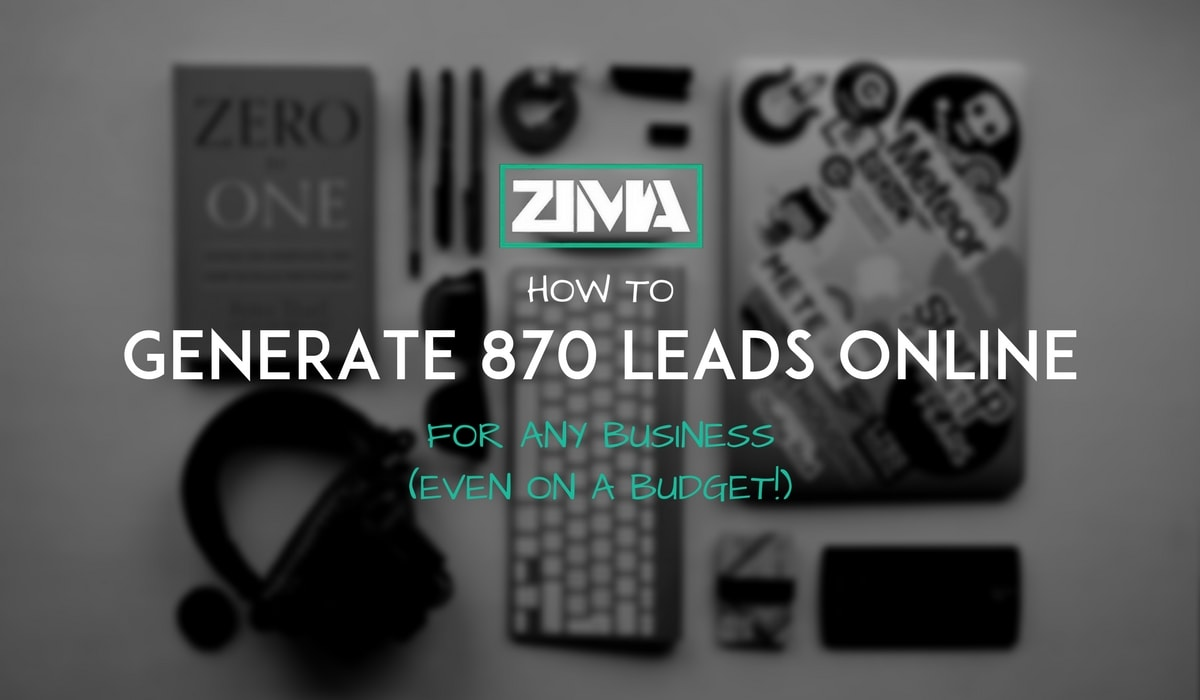 generate 870 leads online